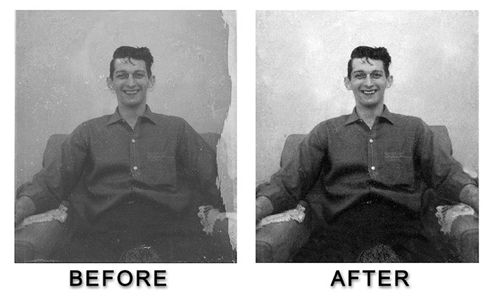 Albert Wilkinson Photo Restoration